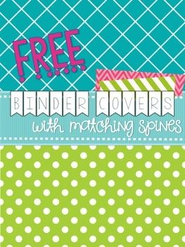 binder covers matching spines updated freebie kindergarten