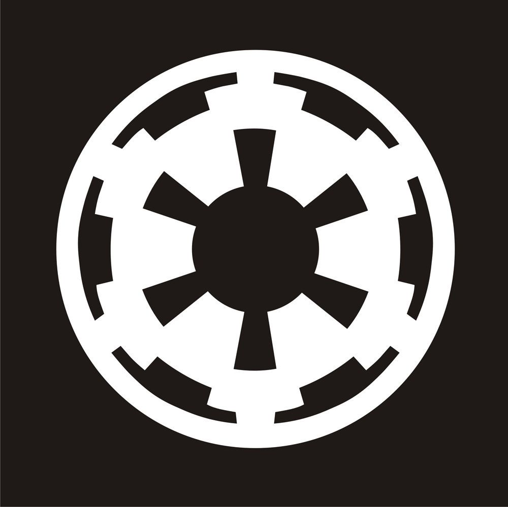Just Bought This Decal For My Car Galactic Empire Emblem Star Wars Star Wars Empire Logo Star Wars Empire Star Wars Symbols