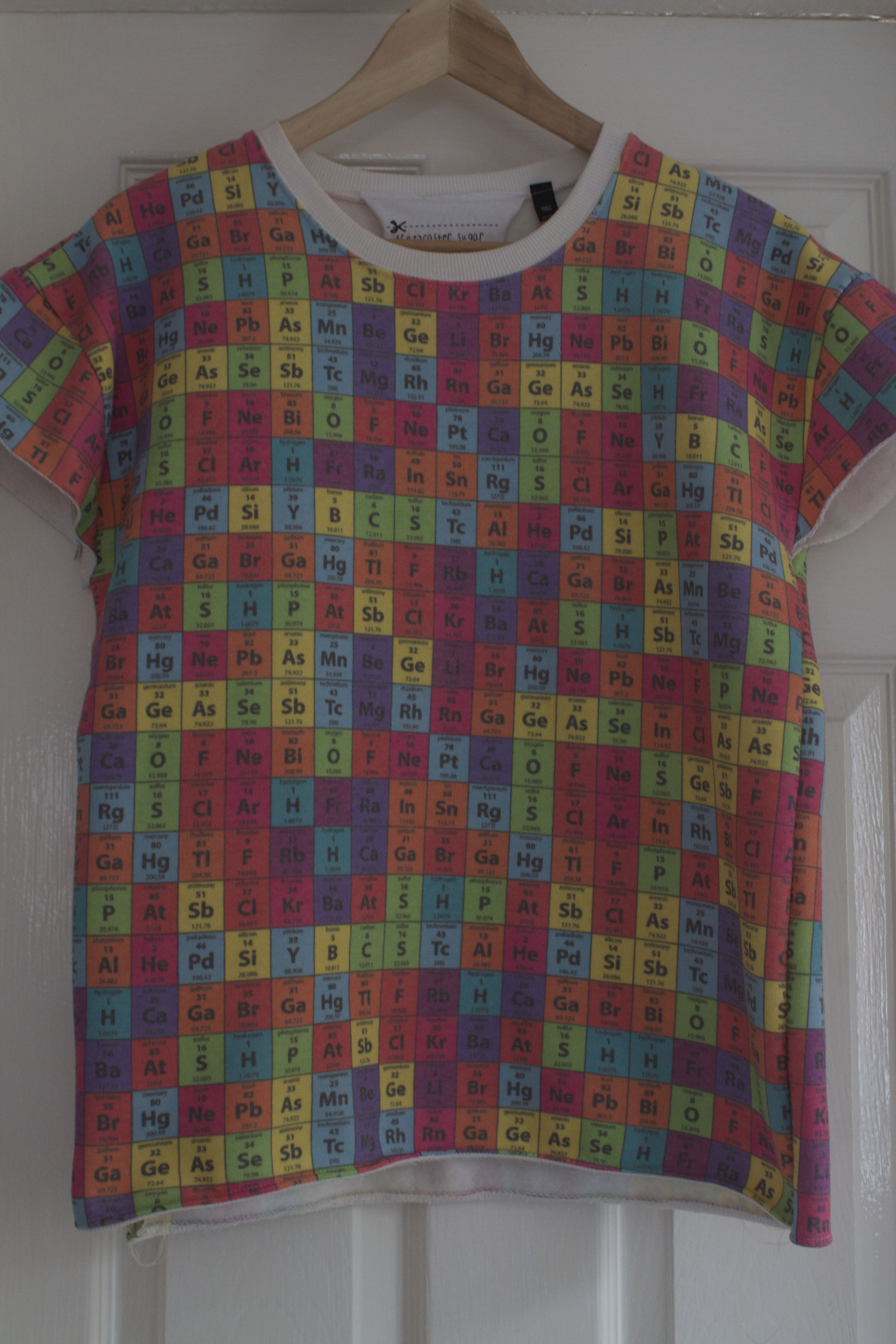 Scientific scrabble jumper  #design #textiles #recycle #diy #craft #thrifty #ebay #sustainable