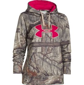 Layer up on cold days with the Women's Camo Big Logo Hoodie for long-lasting warmth and comfort. Constructed with Armour® Fleece fabric, this hoodie will provide you with a soft, brushed interior for a cozy feel. The loose fit is perfect for layering and ColdGear® technology retains your body heat to help keep you warm. Fight off the cold easily in the coziness of the Under Armour® Women's Camo Big Logo Hoodie.
