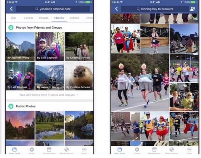 Facebook fotoğraf arama özelliği güncellemesi