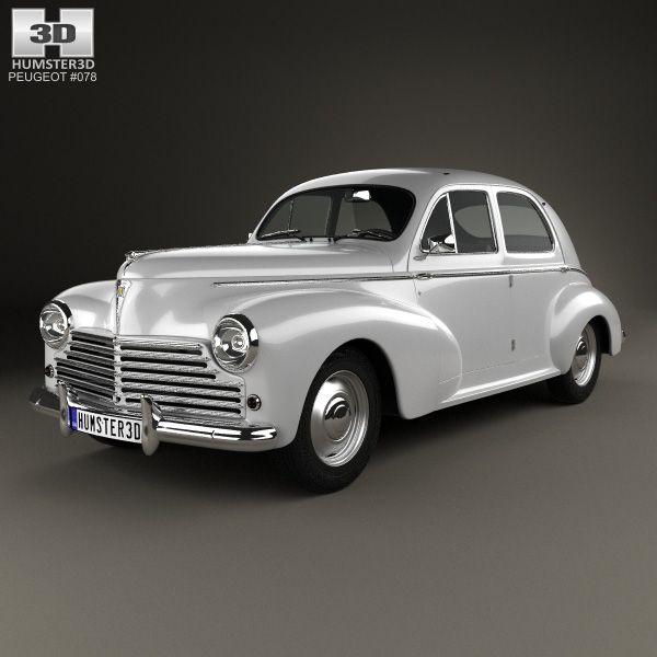 Peugeot 203 1948 3d model from humster3d.com