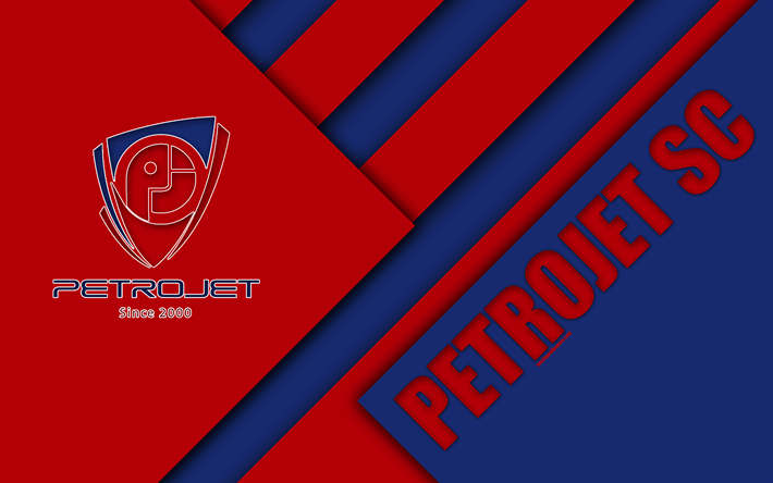 Download Wallpapers Petrojet Sc Egyptian Football Club 4k Logo Material Design Blue Red Abstraction Suez Egypt Football Etisalat Egyptian Premier Leagu Sports Wallpapers Football Football Club