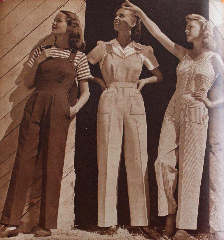Vintage Overalls 1910s 1950s History Shop Overalls 1940s Costume 1940s Fashion Retro Fashion