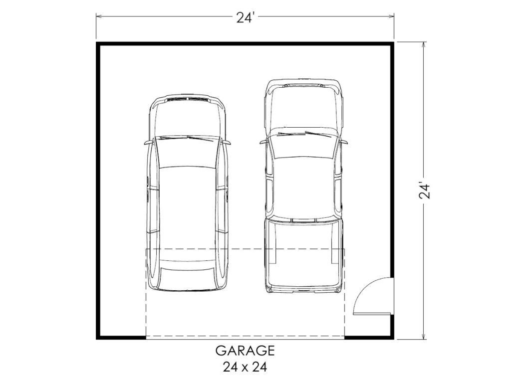 garage floor plan 24x24 multilevel home true built home on garage plans materials lists and are money back guaranteed huge garages serve a wider purpose than just storing cars with archway press this diversity