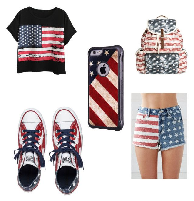 """""""Untitled #57"""" by andea-dea ❤ liked on Polyvore featuring Chicnova Fashion, Bullhead Denim Co., Converse and Mossimo"""