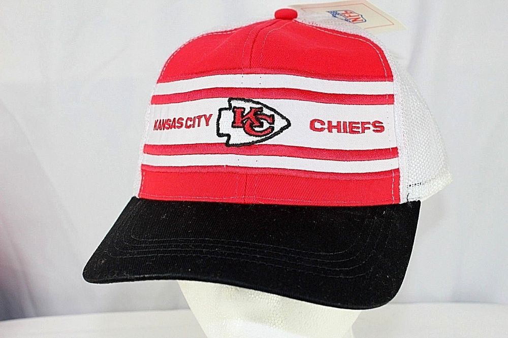 eac7610c6 Kansas City Chiefs White Red NFL Trucker Baseball Cap Snapback  NFL   BaseballCap