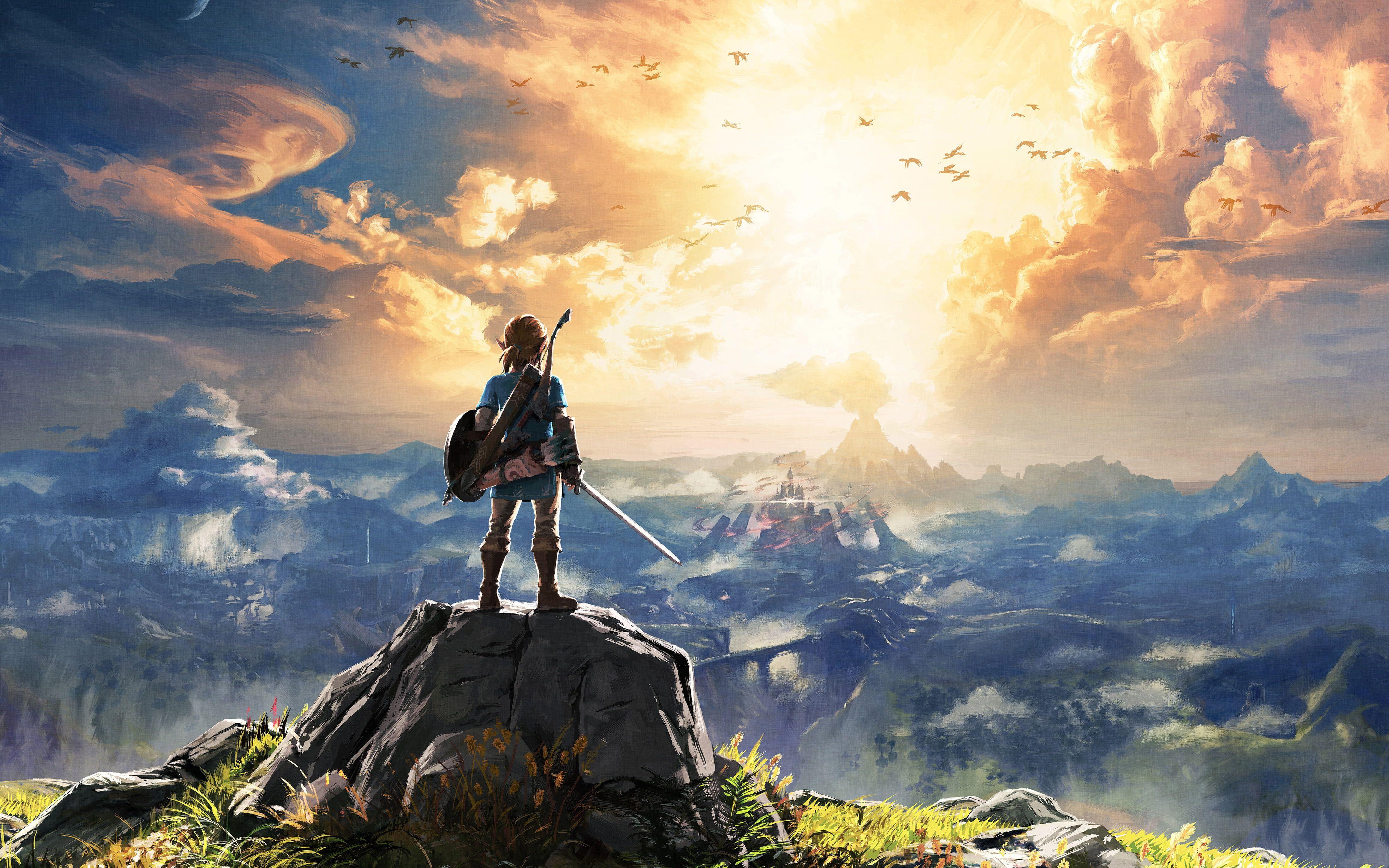 Game Character Wallpaper The Legend Of Zelda The Legend Of Zelda Breath Of The Wild Link Hyrule Castle B Breath Of The Wild Legend Of Zelda Video Game Genre