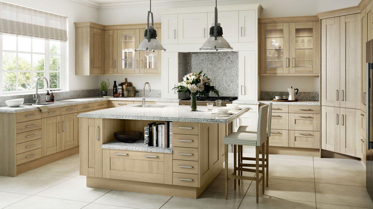 Sand Oak Wood Shaker - Our Kitchens - Sheraton Kitchens-Omega ...