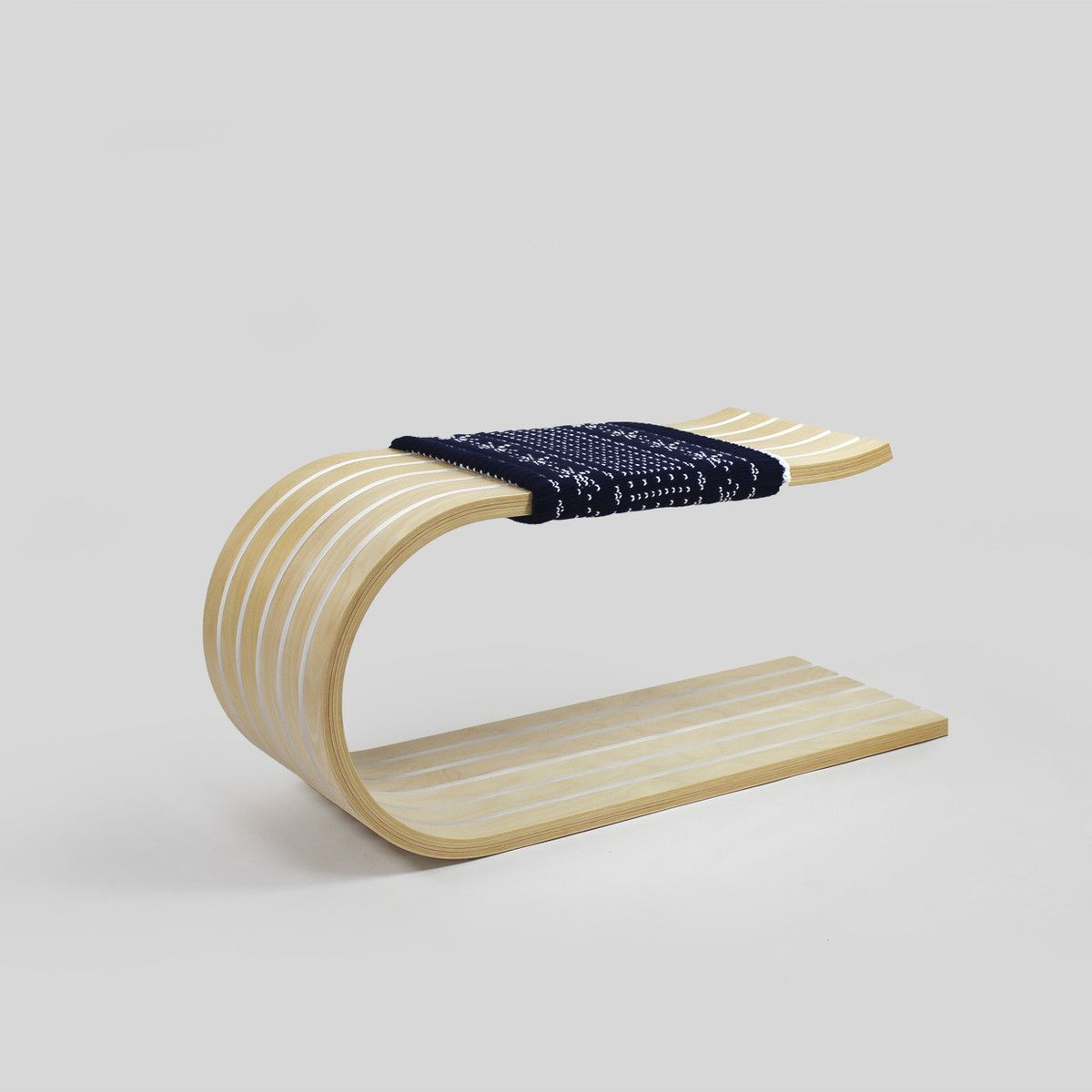 Sleigh Bench Navy And White