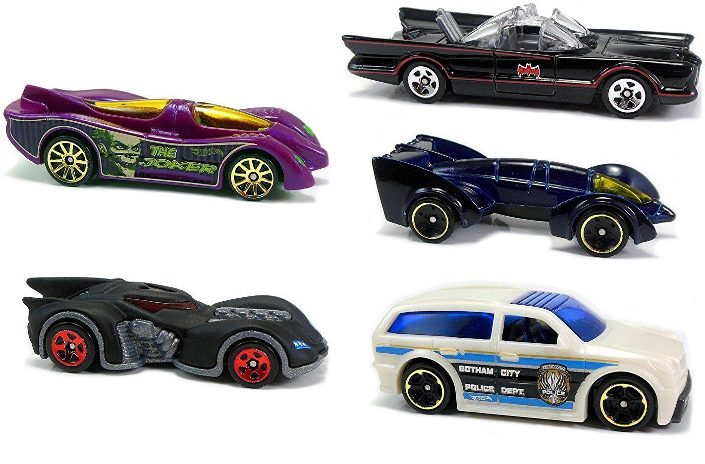 Batman Hot Wheels 5pack Tv Series Batmobile Joker Car Gotham