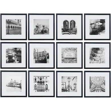 12x12 Black Frame Google Shopping In 2020 Gallery Wall Frames Gallery Wall Kit Photo Wall Gallery