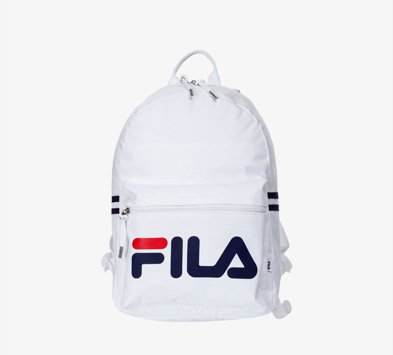 d40ba9318773 FILA Heritage Court Backpack Sports Back to School University White  F3BPZ301  FILA  Backpack