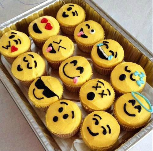 Emoji Cupcakes Cute Huh Comment Please Food