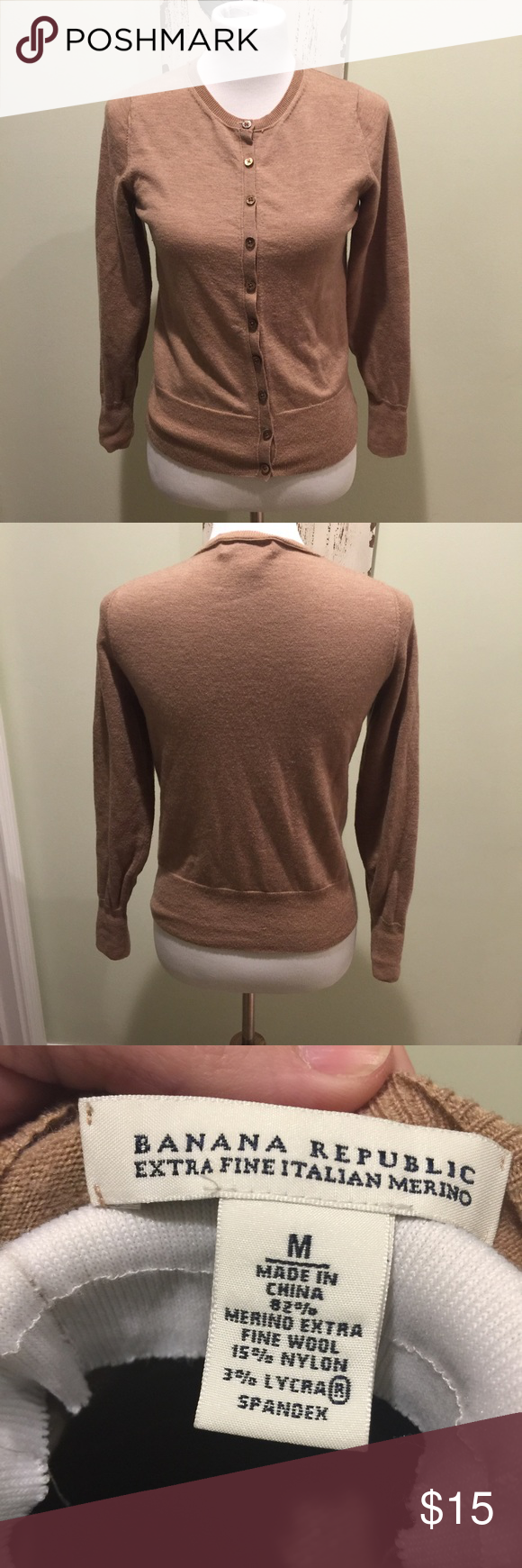 Banana Republic Brown Cardigan Sweater Merino Wool | D, Sweater ...