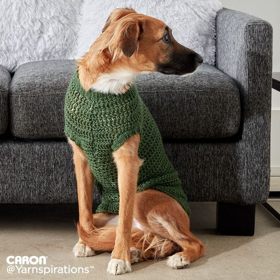 Crochet Dapper Pup Sweater | Crochet | Charity | Let's Make a Difference | Free Pattern | Yarnspirations
