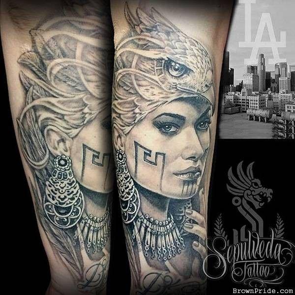 Eagle Warrior Tattoo Eagle Women Warrior Tattoo By Aztec Warrior Tattoo Warrior Tattoo Aztec Tattoo