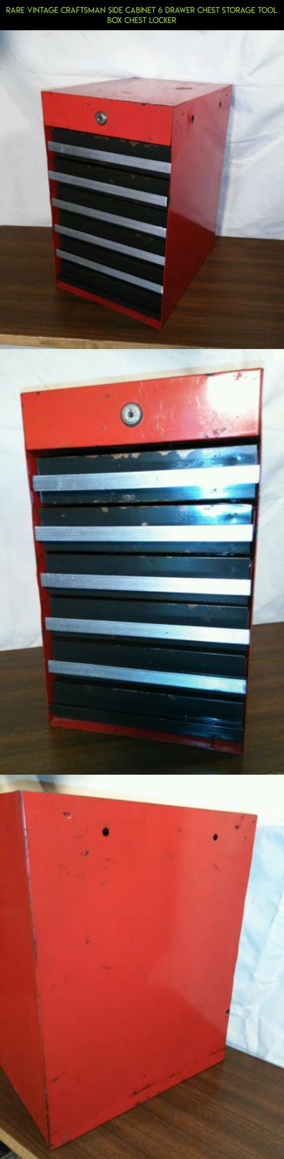 Rare Vintage Craftsman Side Cabinet 6 Drawer Chest Storage Tool Box Chest  Locker #drone #
