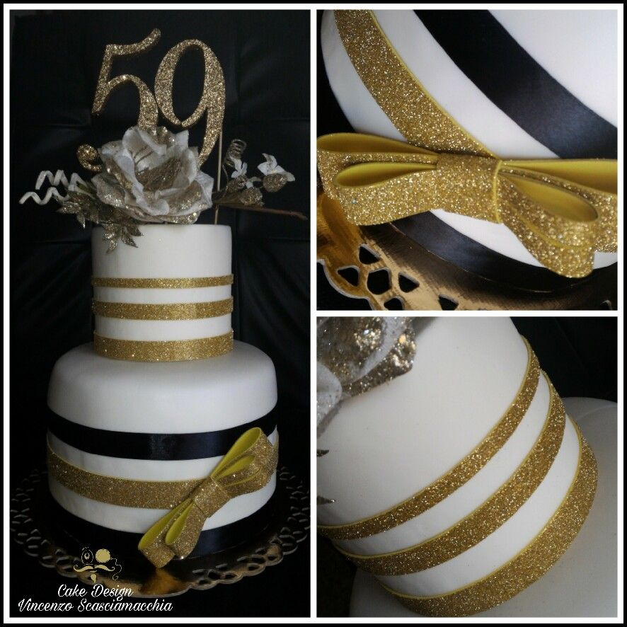 Cake Design gold birthday