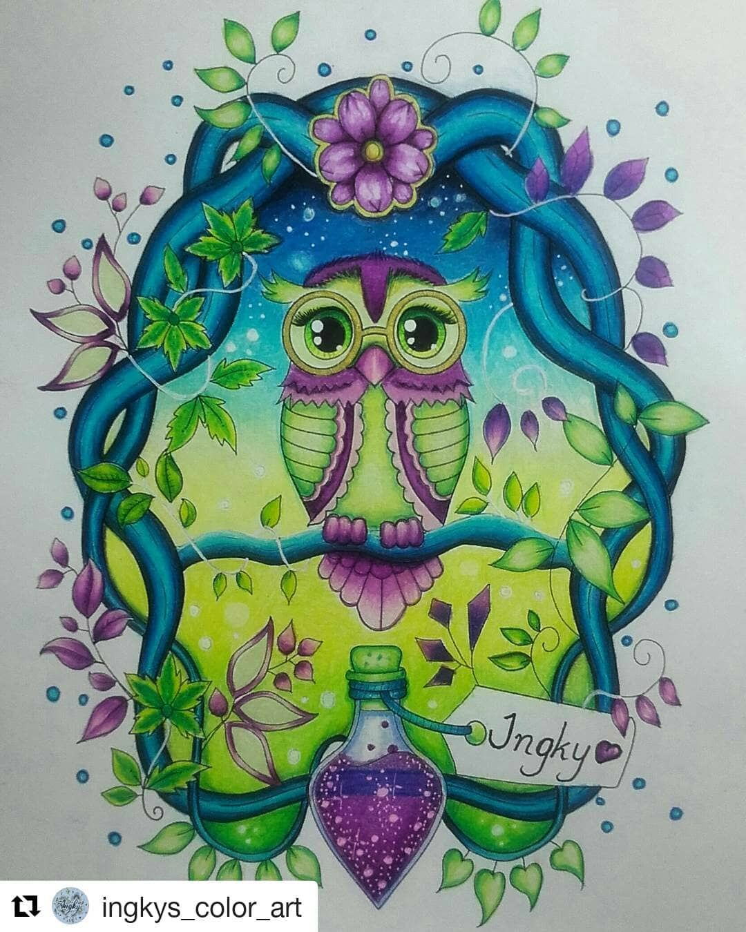 goodnight #sessãocoruja #Repost @ingkys_color_art (@get_repost