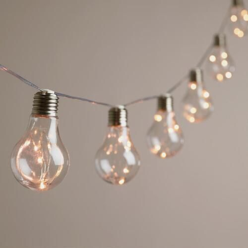 Edison Firefly 10 Bulb Battery Operated String Lights, World Market, NEW!  Our Exclusive String Lights Feature 10 World Market Favorite Edison Bulbs,  ...