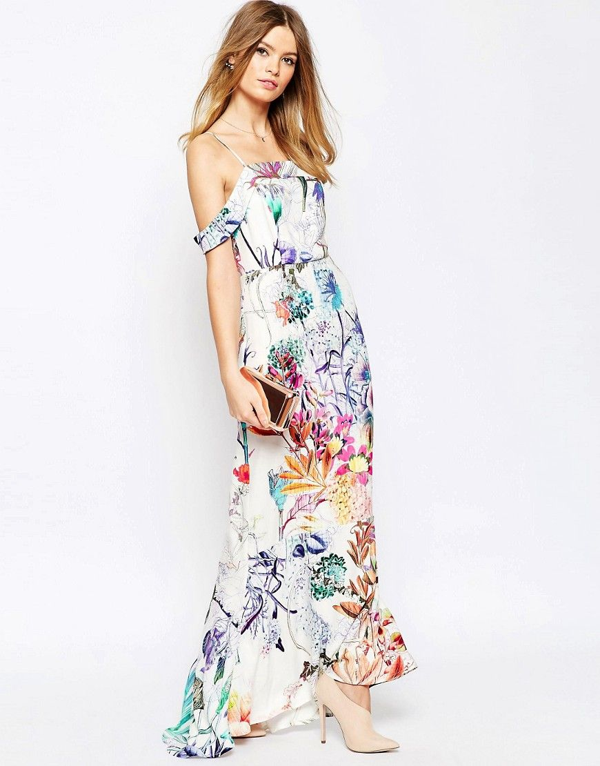 18 Vestidos Estampados Para Una Boda De Verano | Fishtail, Bardot ...