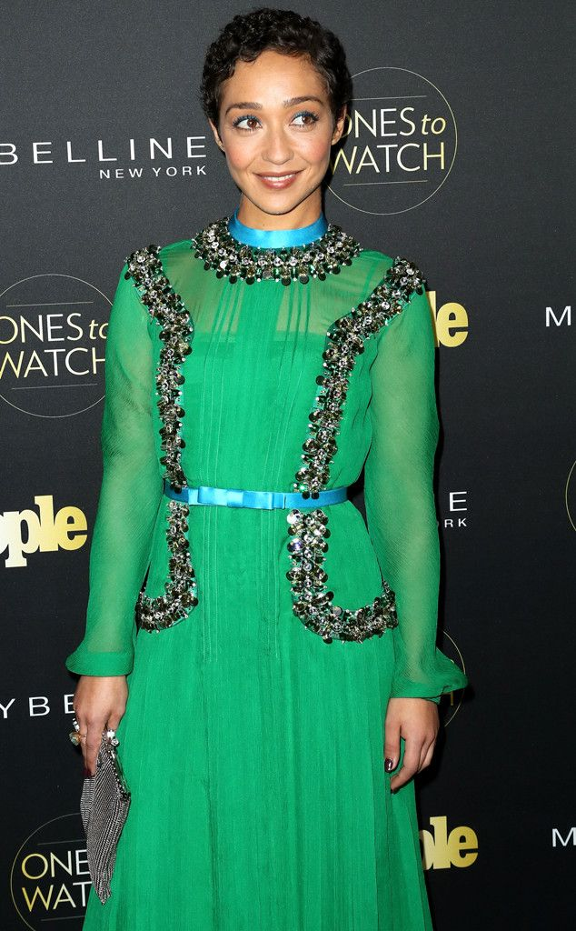 Ones to Watch Party from Party Pics: Hollywood  Loving star Ruth Negga goes green at the People magazine event.