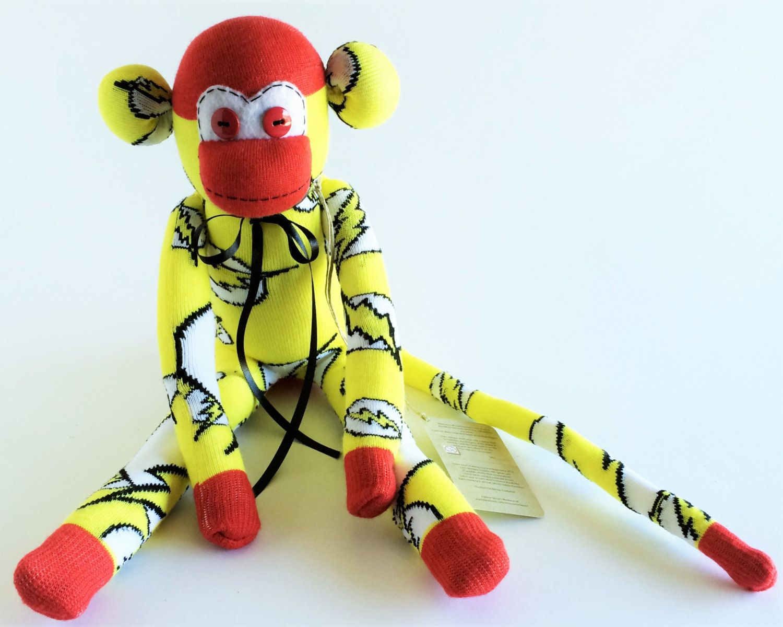 Sock Monkey-Flash-Handmade-Flash Pattern-Themed-Superhero-Monkey ...