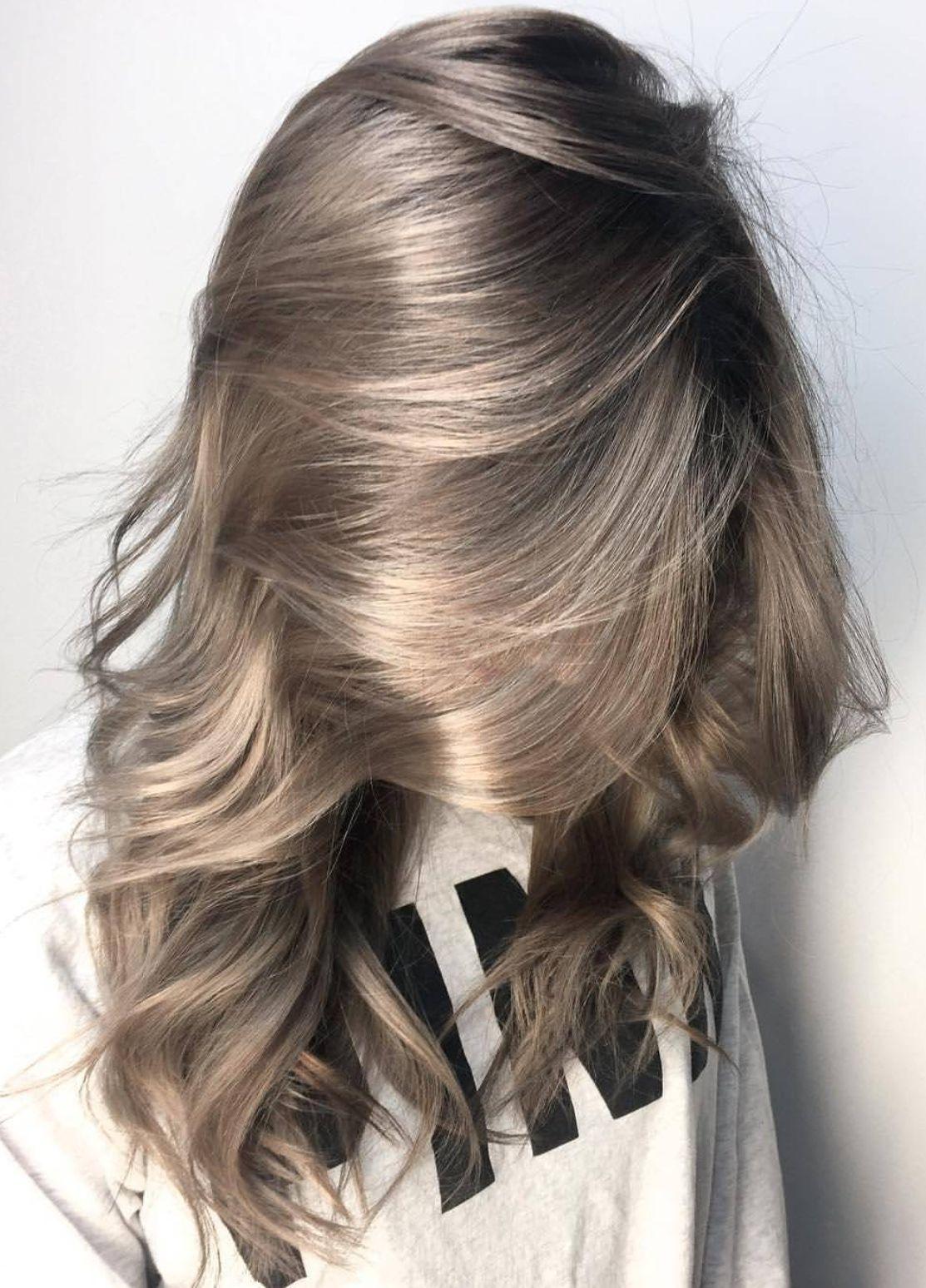 hårfärg långt hår