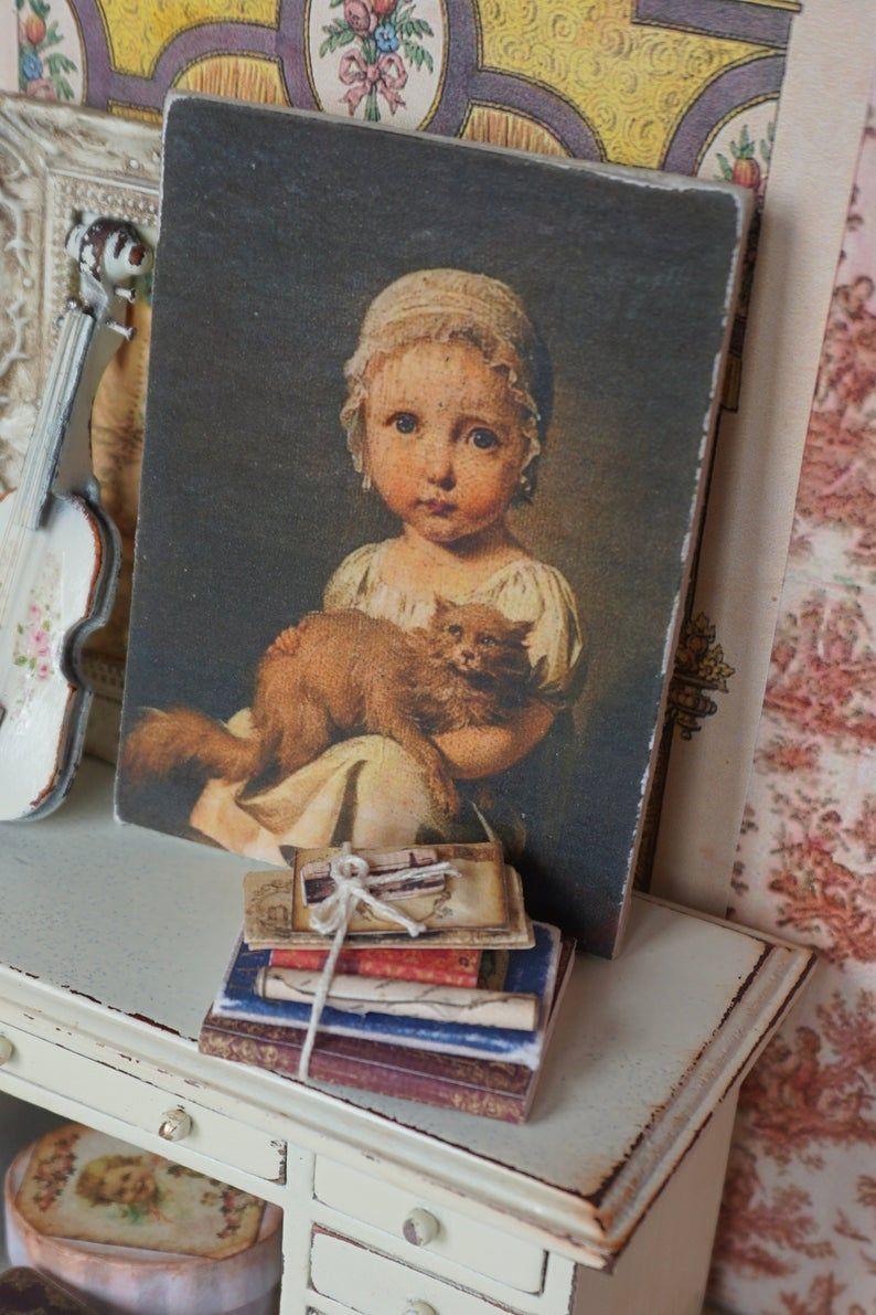 NEWDollhouse vintage french panel. Shabby brocante panel. | Etsy
