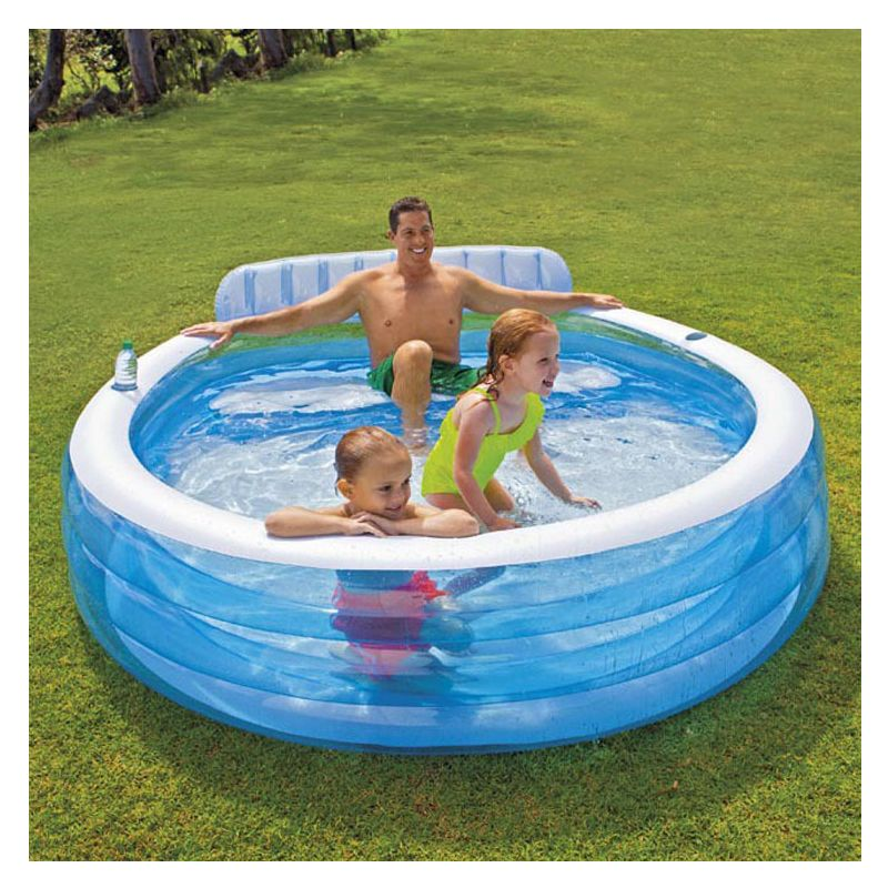 Inflatable Round Solid Color Swimming Water Pool Family Children Kid ...