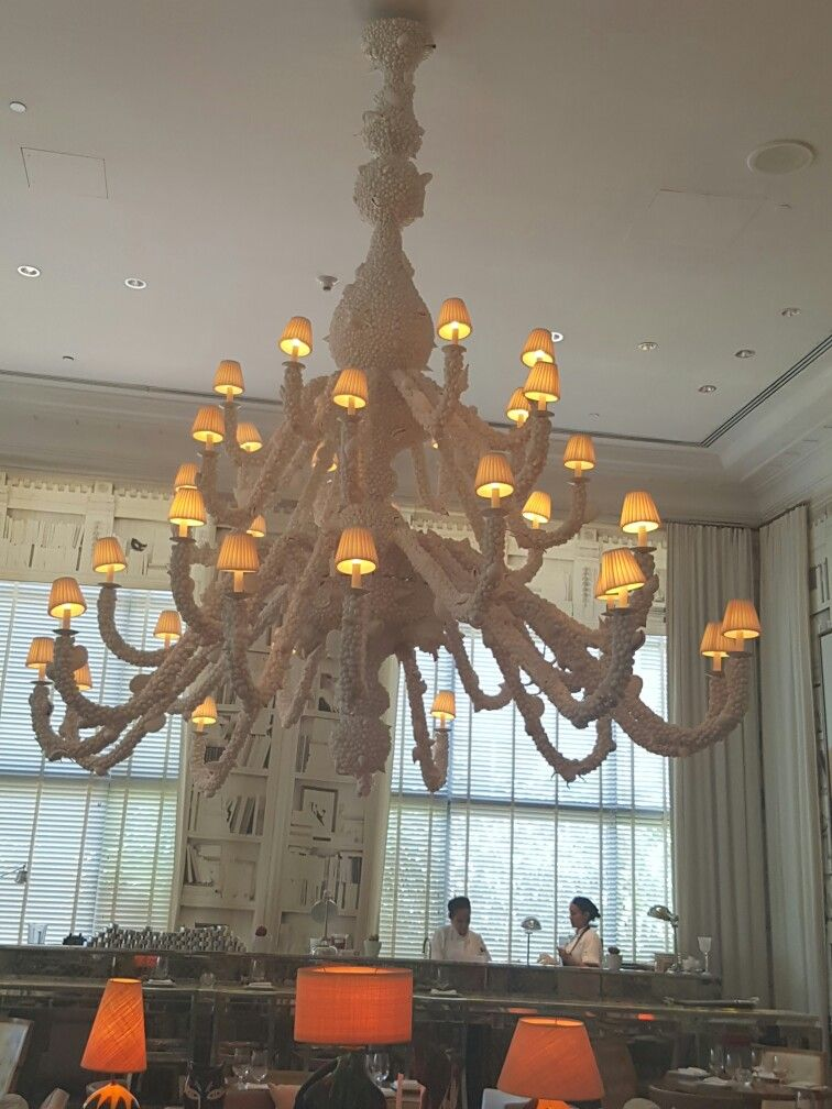 Octopus coral reef chandelier at the SLS Miami