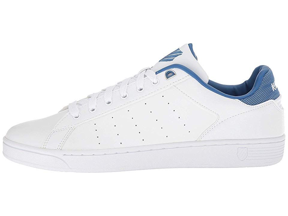 Männer Schuhe K SWISS Sneakers Clean Court CMF in Weiß Blau