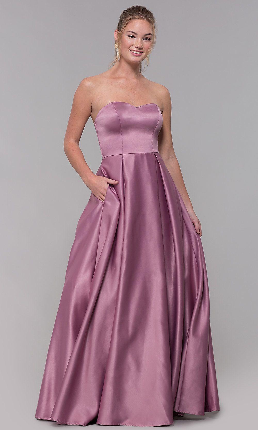 Strapless Long Sweetheart Satin Prom Dress Strapless Dress Formal Prom Dresses Satin Prom Dress [ 1666 x 1000 Pixel ]