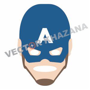 Captain America Face Logo Vector Vector Logo Captain America Lion Drawing