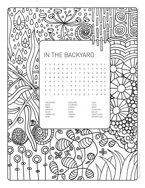 weelife: Word Search Colouring Page: In The Backyard | The greatness ...