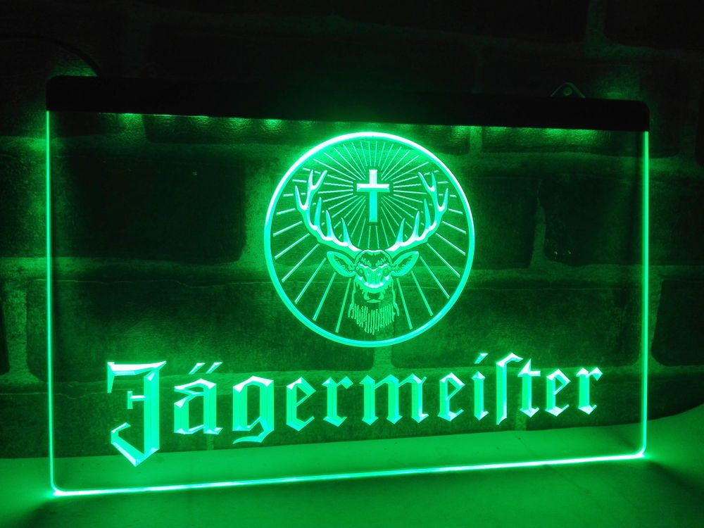 Led Sign Home Decor Delectable Jagermeister Led Neon Light Sign Hang Sign Home Decor Crafts Inspiration
