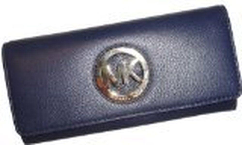 11c26f9be80b Women's Michael Kors Fulton Flap Continental Leather Wallet Navy ...