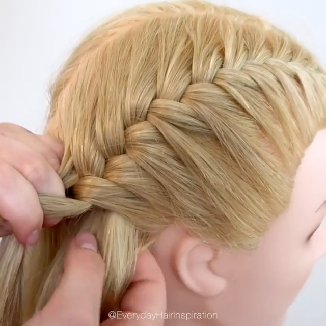 How To French Braid Step By Step Click Here For The Full Video Hair Styles French Braid Short Hair Easy Hairstyles For Long Hair