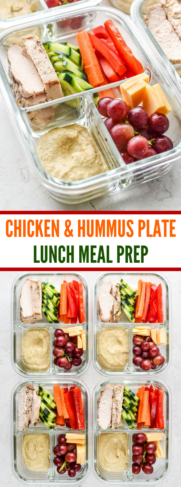 CHICKEN & HUMMUS PLATE LUNCH MEAL PREP #simplemeal #meals #mealprepplans CHICKEN & HUMMUS PLATE LUNCH MEAL PREP #simplemeal #meals #mealprep #veggies #lunch #mealprepplans