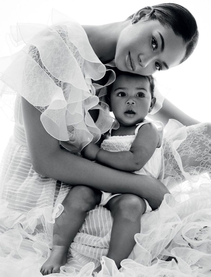 Chanel Iman Joins Daughter Cali for Harper's Bazaa