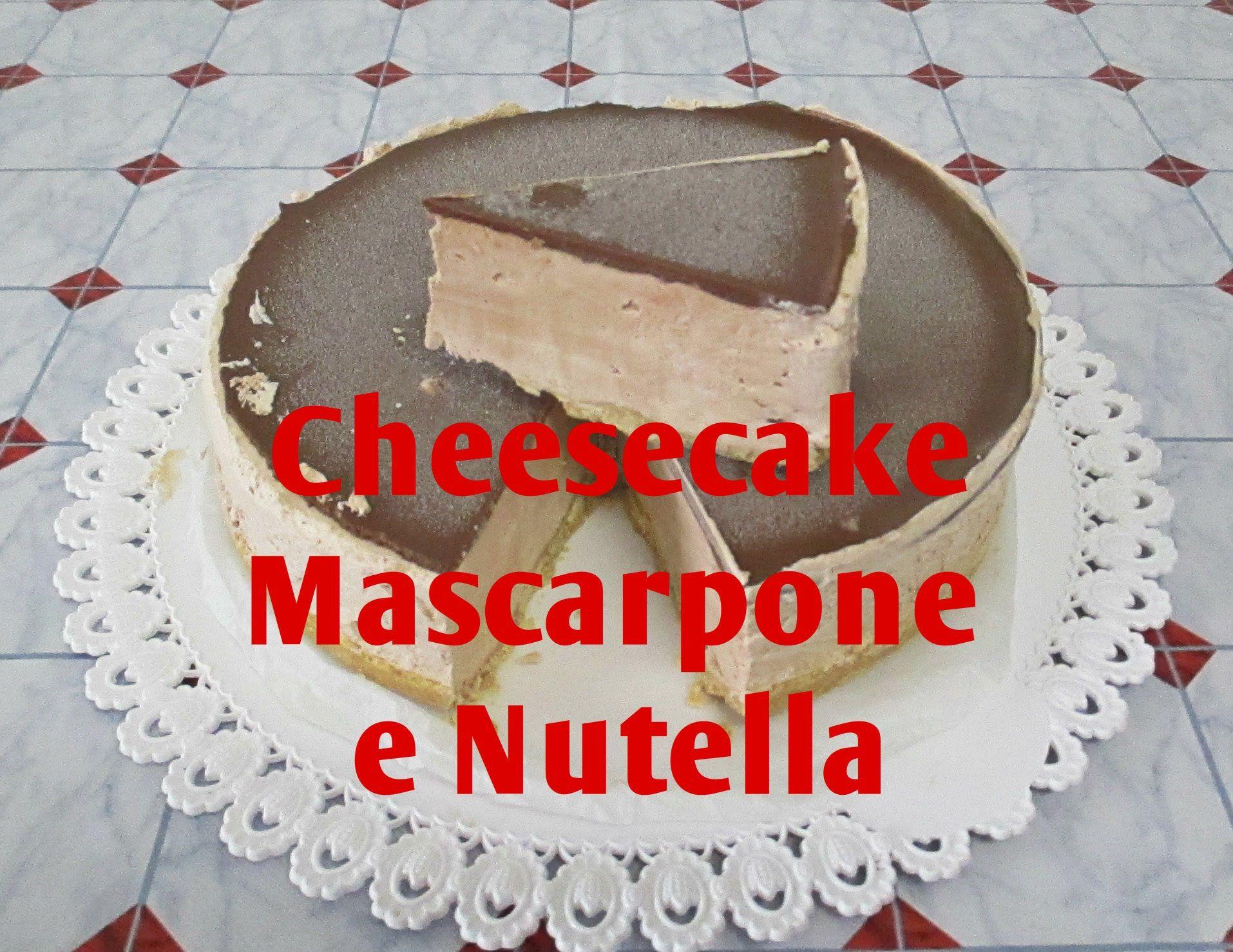 Cheesecake Mascarpone E Nutella Bimby Tm5 Video Bimby Pinterest