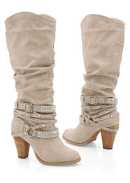 0c4a5f552d573 Wearing these glamorous boots to your line dancing date! Venus studded buckle  boot.