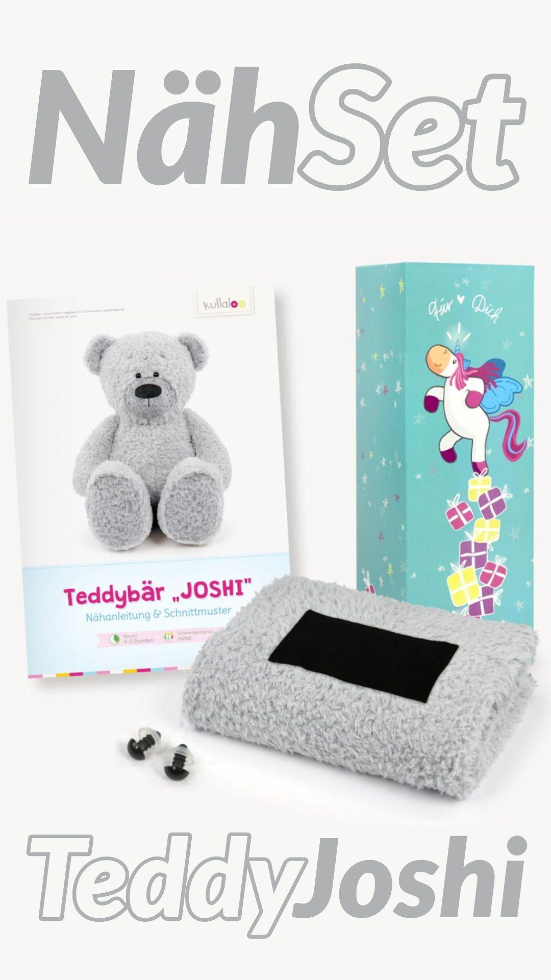 Teddy Geschenkset Hellgrau Papierschnittmuster Plusch Und 1 Paar