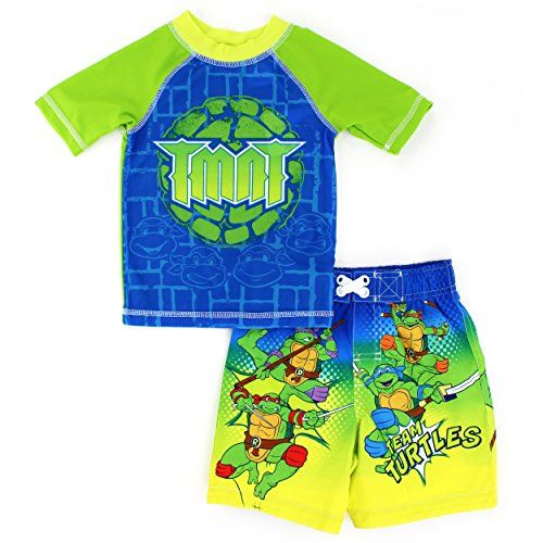 db0653aa9a DC Comics Marvel Nickelodeon Rash Guard and Trunks Swimwear Set (TMNT  Green) Dreamwave #YankeeToyBox #FunStartsHere #Swimwear #Swim #Swimsuit  #Trunks ...