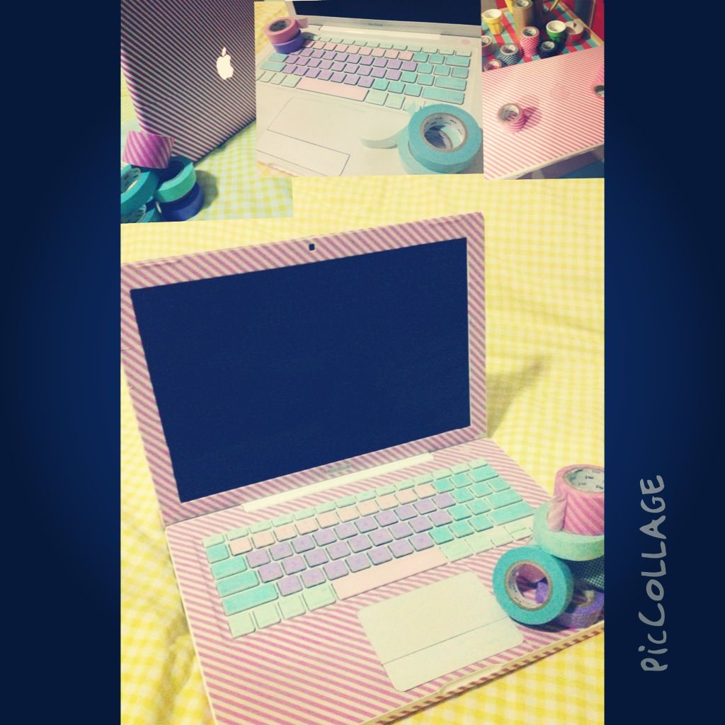 Washi Tape Laptop Washi Tape Laptop Washi Tape Diy Laptop
