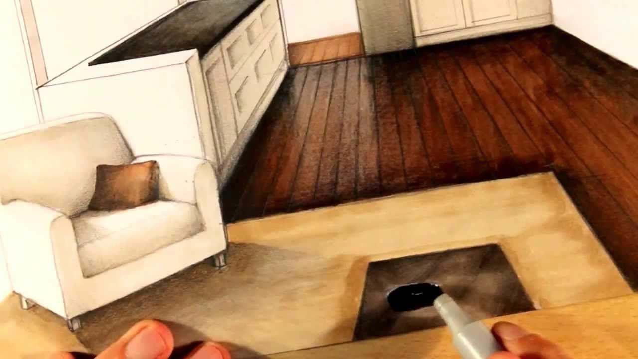 Manual Rendering / Architecture Interior