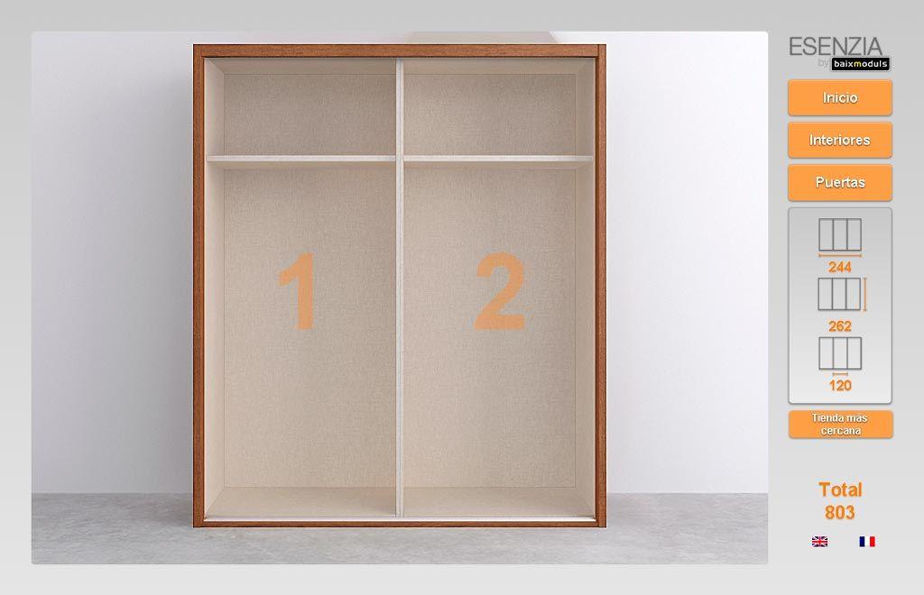 Ahora nos ense a el armario que hab amos escogido en la for Configurador armarios ikea