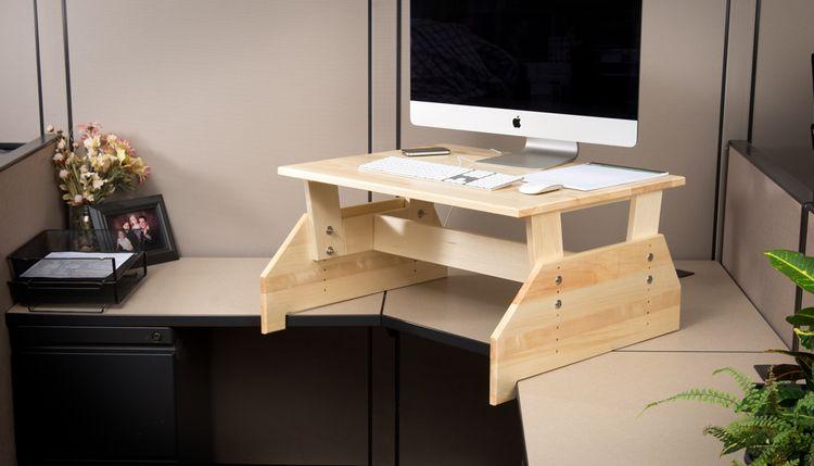 Work Hard Stand Happy Diy Standing Desk Diy Computer Desk