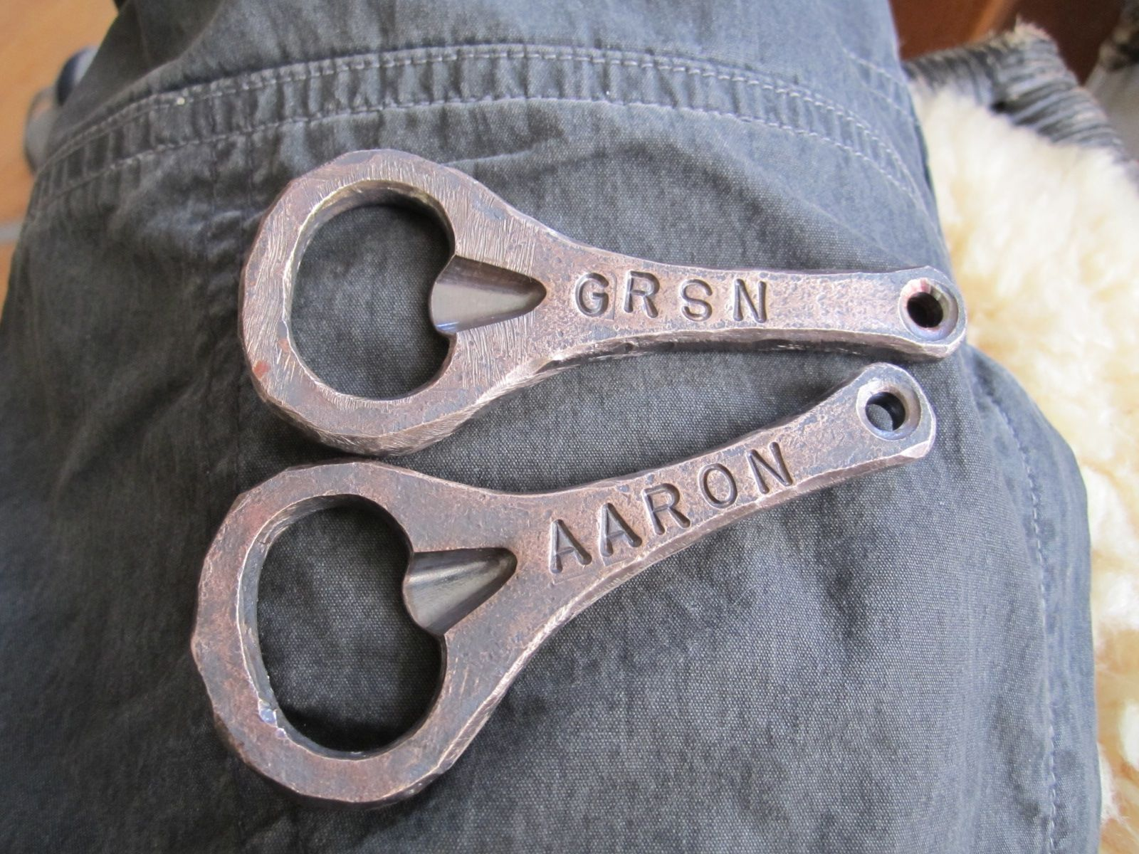 Forged bronze bottle openers perfect for your bronze (8th) wedding ...